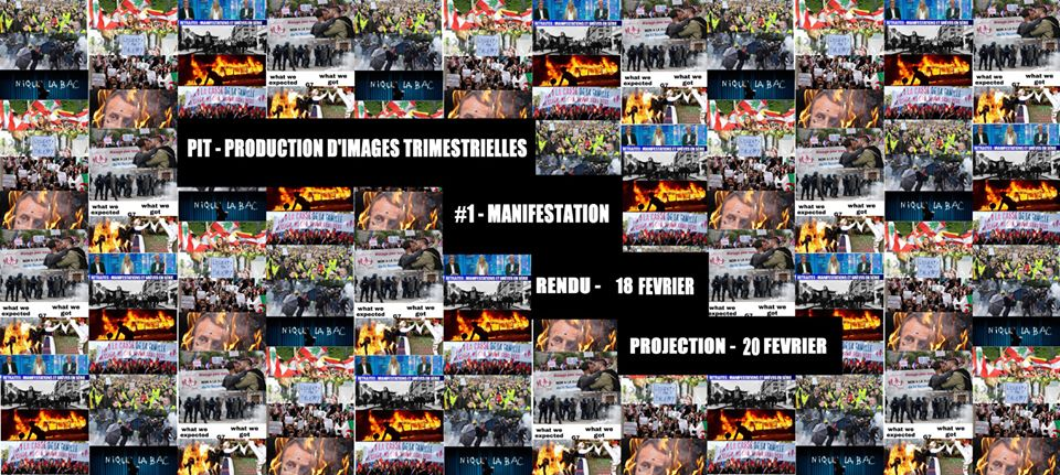 PIT #1: Production d'Images Trimestrielle – Manifestations