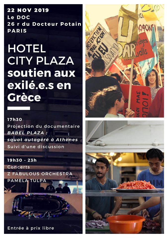 City Plaza: Soutien aux Exilé.es en Grèce