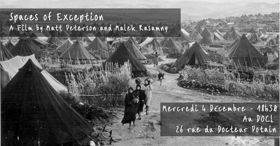 Spaces of Exception – The Native & The Refugee à Paris